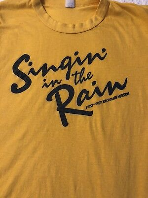 Vintage 1980s Singing In The Rain Broadway T Shirt Med Theater Classic NYC