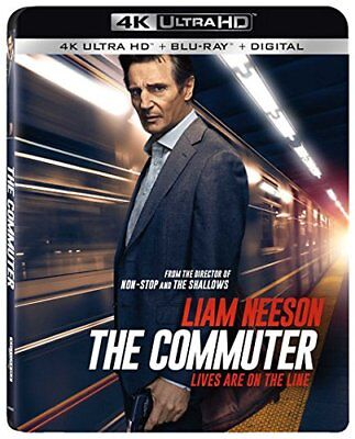 The Commuter (4K UHD + Blu-Ray + Digital) 2018, w/SLIP COVER ***SEALED & NEW***