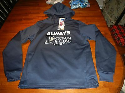 Tampa bay rays mlb majestic athletic hoodie mens sz small authentic nwt baseball