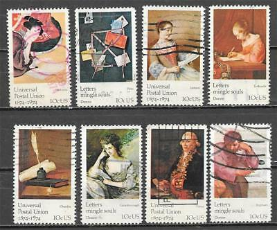 T&G STAMPS - 1530 - 1537 Universal Postal Union Used Set of 8 (Free Ship Offer)