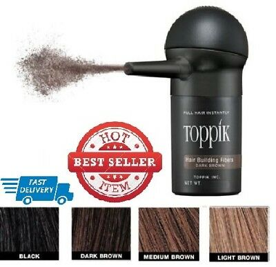 TOPPIK Set Hair Building Fibers 27.5gr with Spray Applicator -Choose your COLORS