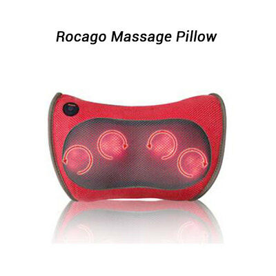 NEW 30W Portable Rocago Massage Pillow, Velcro Strap Design for Home Office Car