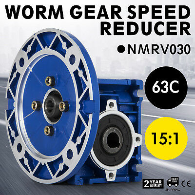 NMRV030 Worm Gear 15:1 63C Speed Reducer Gearbox   New HQ 0.38HP