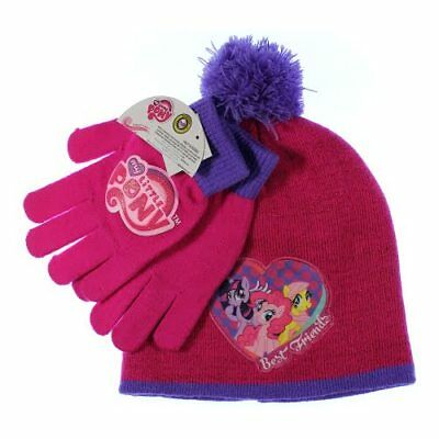 BNWT girls warm winter Little Princess Pink or dark pink hat and mitts set