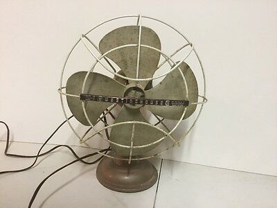 """vintage westinghouse 10"""" art deco table top fan 10LA 4 works needs to be cleaned"""