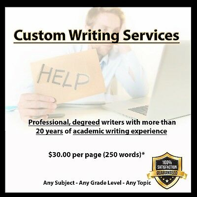 Custom Writing Service I Essays-Term-College-Research Papers- $30+/pg. 250 w/pg.