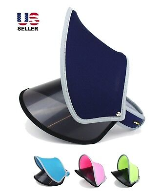 Sun Visor UV Protection Summer Outdoor Face Cover Shade Sport Duet 2 Layers Hat