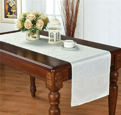 Jacquard Table Runner Flower Table Cover Wedding Tablecloth