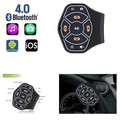Wireless Bluetooth Steering Wheel Button Remote Controller Stereo Phone Music