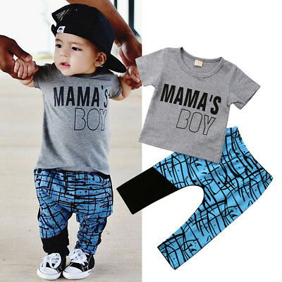 AU Newborn Toddler Kids Baby Boys Tops T-shirt+Harem Pants Outfits Clothes 1-5T