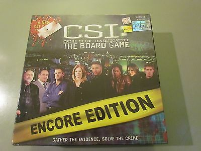 Csi Board Game New Factory Sealed Rare 2006 Encore Edition Crime Scene