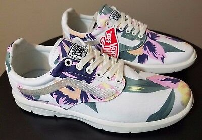 d648b13ab75842 Womens VANS Iso 1.5 Shoes White Size 7 Vintage Floral Design Roshe Casual