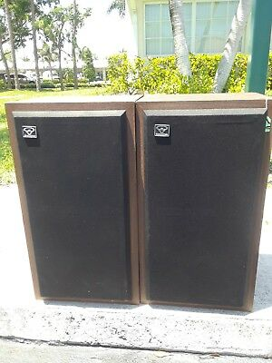 Pair of Cerwin Vega D-3 Digital Series Speakers All Original 8 Ohms. 2nd hand.