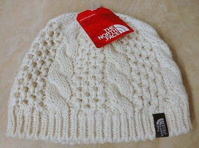 e5811de621f New Women s The North Face Vintage White Cable Minna Beanie Skullie One Size