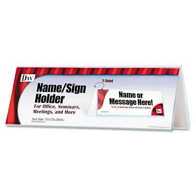 DAX® 2-Sided Name/Sign Holder, Blank, 11 x 3 1/2 x 4, Clear 076795309420