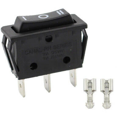 On/Off Large Rectangle Rocker Switch LED Lighted Car Dash Boat 3-Pins 16A 20A