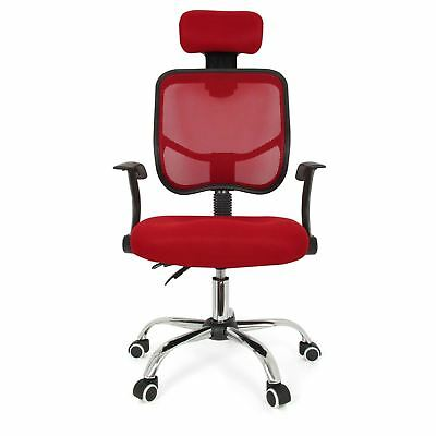 Seat Height Adjustment Office Computer Desk Chair Chrome Mesh Seat