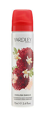 Yardley English Dahlia Body Spray Womens Perfume Fragrance Deodorising 75ml
