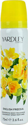 Yardley English Freesia Body Spray Womens Perfume Fragrance Deodorising 75ml