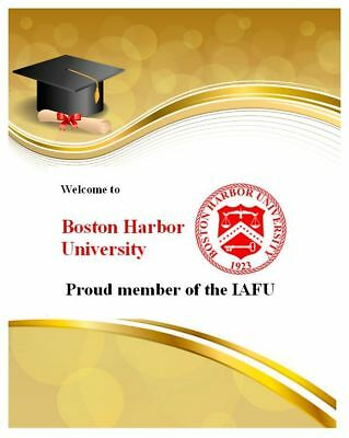 Ihr Bachelor - Titel, Studium komplett, Boston Harbor University, Urkunde