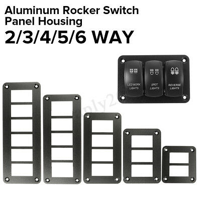 2/3/4/6 Way Car Trailer Boat Rocker Switch Panel Housing Holder For ARB Carling