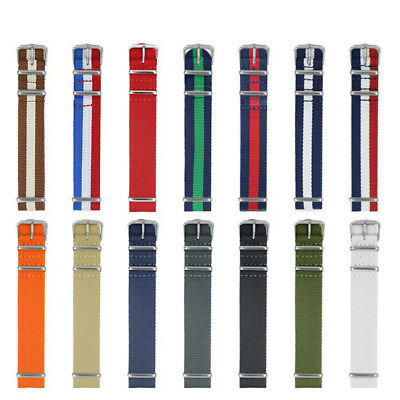 18-22mm Military Army Nylon Fabric Watch Band Strap Alloy Buckle Wrist WatchBand