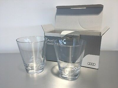 Genuine Audi Water Glasses 2 Pcs Set New