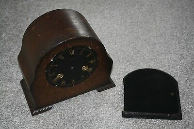 Timber Smiths Vintage Clock Case, rare Black and Gold Dial, Spares/Repairs/Parts
