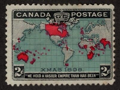CANADA  #86b 2c unused/MNG  COLOR CHANGE & MARKS IN 'STAGE'  1898 FINE