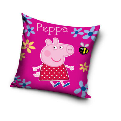 NEW PEPPA PIG bee flowers cushion cover 40x40cm pillow case