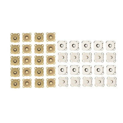 20 Sets Magnetic Clasp Purse Snaps Closure 14mm Sewing Button Bag Press Stud
