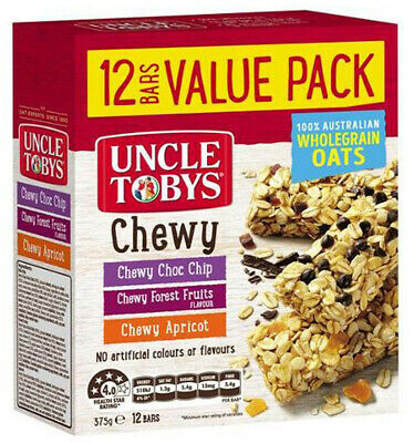 Uncle Tobys Chewy Muesli Bars Variety Pack 375g