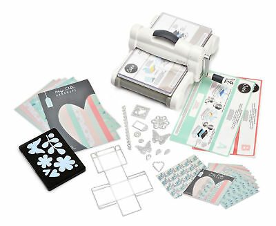 SIZZIX Big Shot PLUS Starter Kit Stanzmaschine Prägemaschine White & Grey 661546