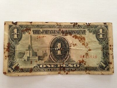 Philippines - Wwii Japanese Occupation One Peso Bank Note