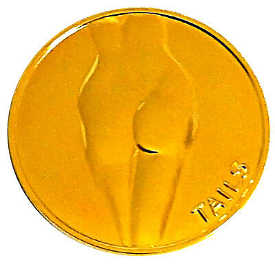 Lady Luck Heads Tails Good Luck Gold-Mirror Challenge Coin  Gift for Men