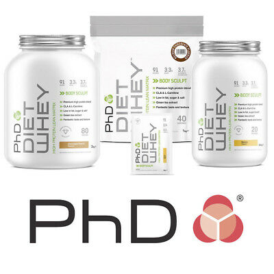 PhD Nutrition Diet Whey Protein 50g 500g 1kg 2kg Weight Loss Shake Great Flavour