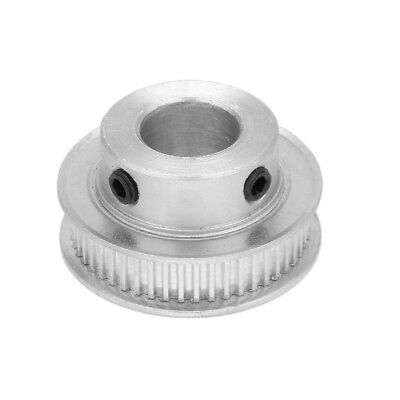 50 Teeth 15mm Bore 7mm Belt Timing Idler Pulley Synchronous Wheel Silver Tone