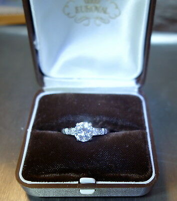 LUXUS Solitär Damenring Platin Brillant 1,51ct. + 4 Diamanten 0,18 ct. 31000,00