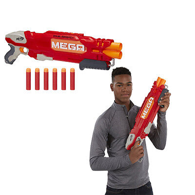 N-Strike Elite Shotgun Pump Double Barrel Toy Gun Blaster Foam Mega Dart 6 NEW