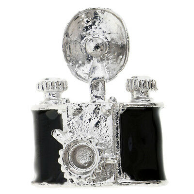 Resin Mini Old Camera for Dollhouse Decoration Black Craft Shop Collection