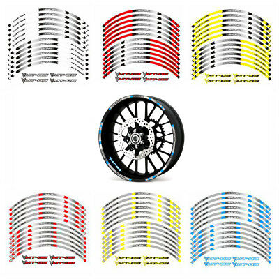 For Yamaha MT-09 TRACER FJ09 Outer Wheel Rim Reflective Stickers Stripes Decals