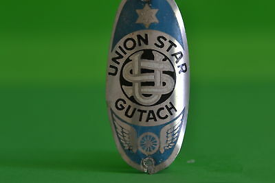 Vintage bicycle - Tablet Logo of the manufacturer-Union Star Gutach -4546