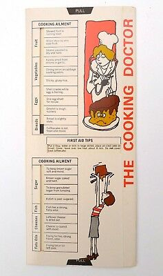 Piggly Wiggly THE COOKING DOCTOR Hints Tips Advice Sliding Pull Guide 1978 Promo