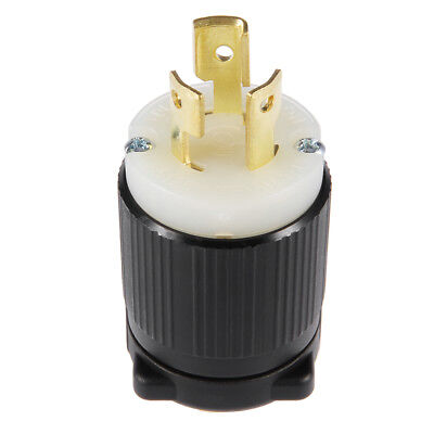 US Plug NEMA L5-15P Generator Locking Plug - 15A 125V, 2P 3W YUADON Authorized