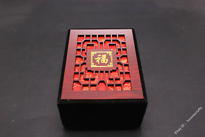 10.5 Special grade Silk Wood Handmade Jewelry Pendant Ring Necklace Box Boxes VX