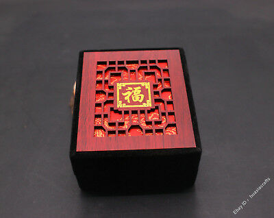8.5 Special grade Silk Wood Handmade Jewelry Pendant Ring Necklace Box Boxes VH