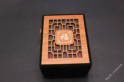 10.5 Special grade Silk Wood Handmade Jewelry Pendant Ring Necklace Box Boxes VZ