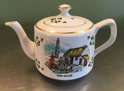Carrigaline Shamrock Irish teapot