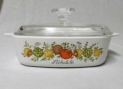 Corning Ware 1 Quart Casserole  A -1- B  Spice of Life w/ 1 Glass Lid
