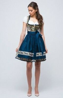 Mini Dirndl from Germany Green and Dark Blue